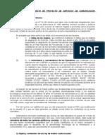 ANALISIS DE LA PROPUESTA DE PROYECTO DE SERVICIOS DE COMUNICACIÓN AUDIOVISUAL