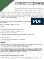 Auditoria Fiscal de Empresas - Manual Normativo de Arquivos Digitais (Manad) - Roteiro de Procedimentos