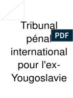 Tribunal pénal international pour l'ex yugoslavie