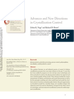 Advances and New Directions in Crystallization Control
