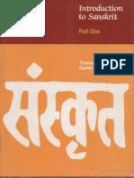 Introduction to Sanskrit Part 1 - Thomas Egenes