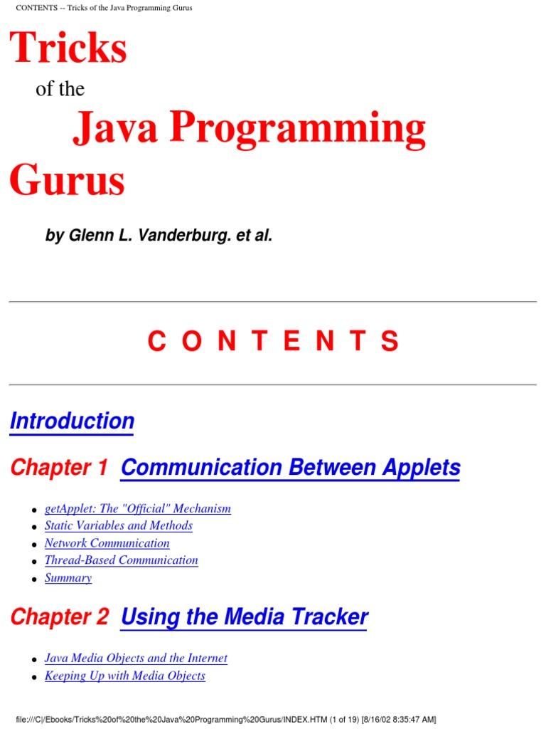Tricks of the Java Programming Gurus | Java (Programming Language