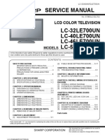 Sharp AQUOS LC-[32/40/46/52]LE700UN Service Manual