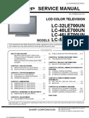 Sharp AQUOS LC-[32/40/46/52]LE700UN Service Manual | Solder