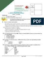 Subiecte ROMANA Clasa3