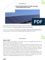 Advantages and Disadvantages of Solar Energy - What Happened in 2013