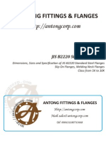 Dimensions, Sizes and Specification of JIS B2220 Standard Steel Flanges