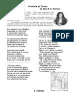 0 Greierele Si Furnica Jean de La Fontaine