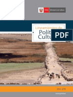 Lineamientos de Politica Cultural 2013-2016 (Ministerio de Cultura) (1)