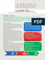 Symbiosis Poster of MBA-PhD Program_1