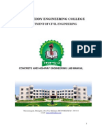 Concrete and Highway Engineering Lab Manual