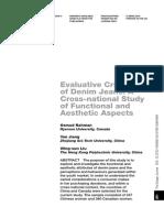 Evaluative Criteria - Denim Design Journal