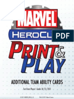 Heroclix - Additional Team Abilities - Marvel