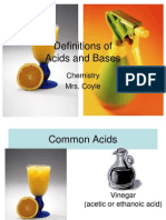 1 Definition of Acids and Bases