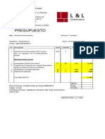 Presupuesto Competencia - Excavadora 320 C-2005
