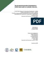 Capacitación en Investigación Etnográfica para el Municipio de San Juan La Laguna, Sololá, Guatemala
