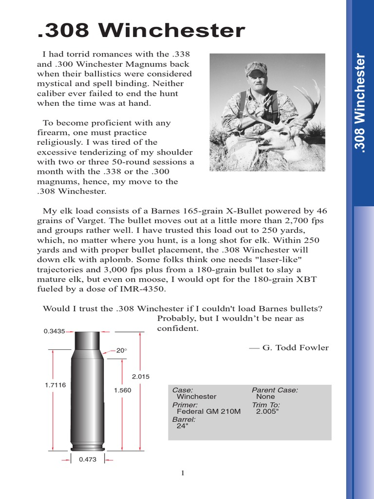 Barnes 308 bullet reloading guide | Bullet | Grain (Unit)