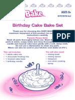 Easy Bake Birthday Cake Bake Set