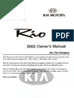 2003 Rio Owners Manual En