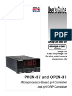 PHCN 37 and OPCN 37 pH and ORP Controller User Manual