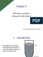 2 rheology of powders
