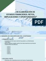 Proceso de elaboración de Estados Financieros, Retos, implicaciones y oportunidades