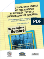 MANUAL DE TRABAJO CON JÓVENES VARONES PARA FOMENTAR LA EXPRESIÓN CONTRA LA DISCRIMINACIÓN POR HOMOFOBIA.