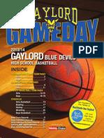 Gaylord Gameday Basketball 2013