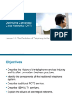 Lesson 1 - Evolution of Telephony in Enterprise
