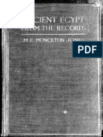 M. E. Monckton Ancient Egypt From the Records