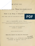 Maspero Manual of Egyptian Archaeology