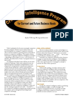 Create an Intelligence Program for Current and Future Business Needs