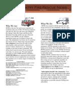 HCFR Newsletter Vol. 1-1,  July, 2008