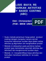 Analisis Biaya Rs Berdasarkan Activity Based Costing -