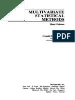 Multivariate Statistical MORRISON 3th.pdf