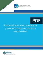 Proposiciones Para Una Ciencia y Una Tecnologia Socialmente Responsables