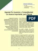 Agenda Pro Inversion y Competitividad Un Avance Pero Parcial