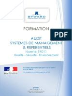 BYWARD Programme Formation Audit ISO19011