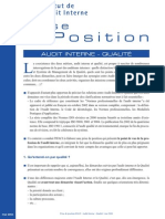 Prise de Position Audit Interne Qualite Mai 2004 1