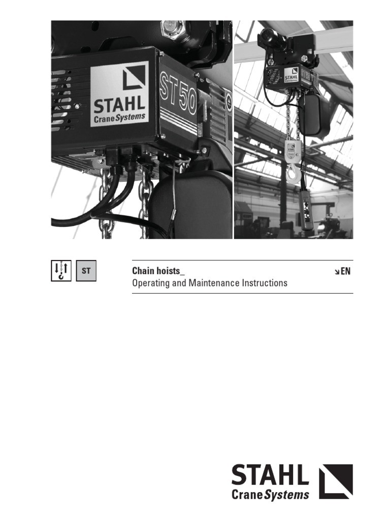 stahl new operating instruction manual chain hoist electricianstahl new operating instruction manual chain hoist electrician clutch