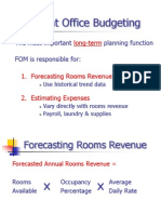 Front Office Budgeting