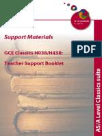 OCR AClassics Teacher Support Material 12958