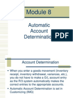 Module 8 -Automatic Account Determination