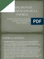 Principios de Conservacion de La Energia