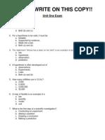 Unit 1 Exam