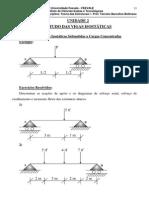 TEORIA DAS ESTRUTURAS I Unidade 2 - Estudo das Vigas Isostáticas