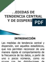 Medidas de Tendencia Central y de Dispersion