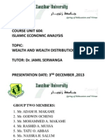 Wealth Distribution in Islam by Adam Hamza