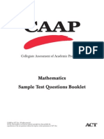Mathematics Sample Test Questions Booklet