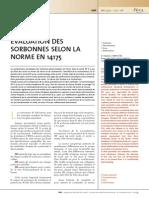 Norme en 14175 DES Sorbonnes